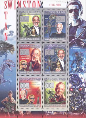 Sheet of stamps Guinea, 2008, C. Winston | Hobby Keeper Articles