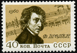 Mark of the USSR 40 kopecks Chopin | Hobby Keeper Articles