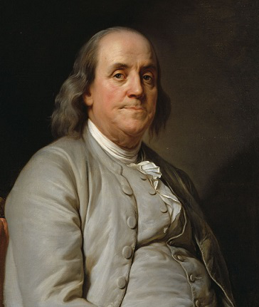 Portrait of Franklin painted by J. Duplessis, circa 1785 | Hobby Keeper Articles