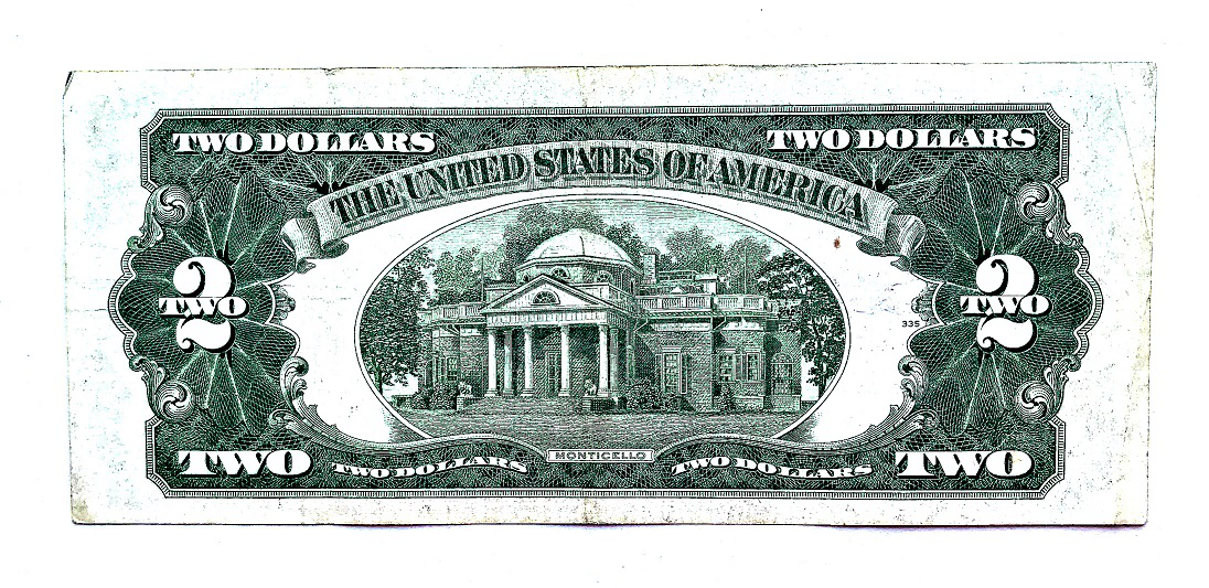 Banknote $ 2 USA, 1928, reverse | Hobby Keeper Articles