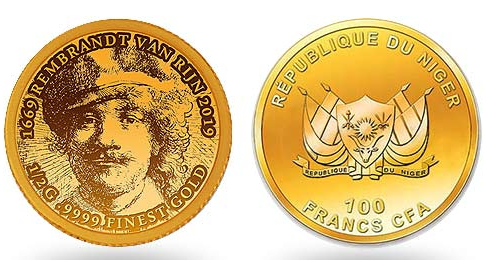 Coin 100 francs Rembrandt   Hobby Keeper Articles