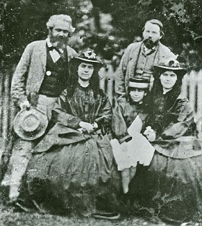 Marx with His Family and Engels | Hobby Keeper Articles
