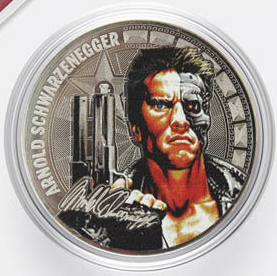 Hollywood heroes commemorative coin with Terminator, Russia, 2019 | Hobby Keeper Articles