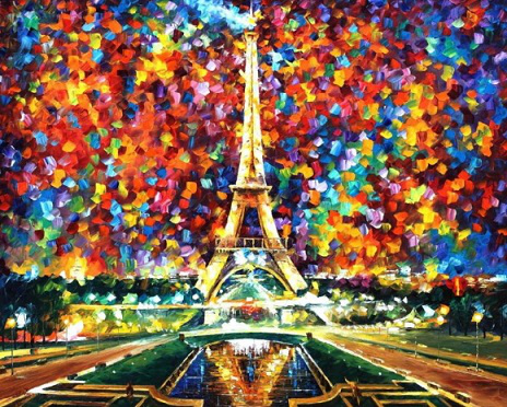 "The picture of the ""Eiffel tower"" L. Afremov 