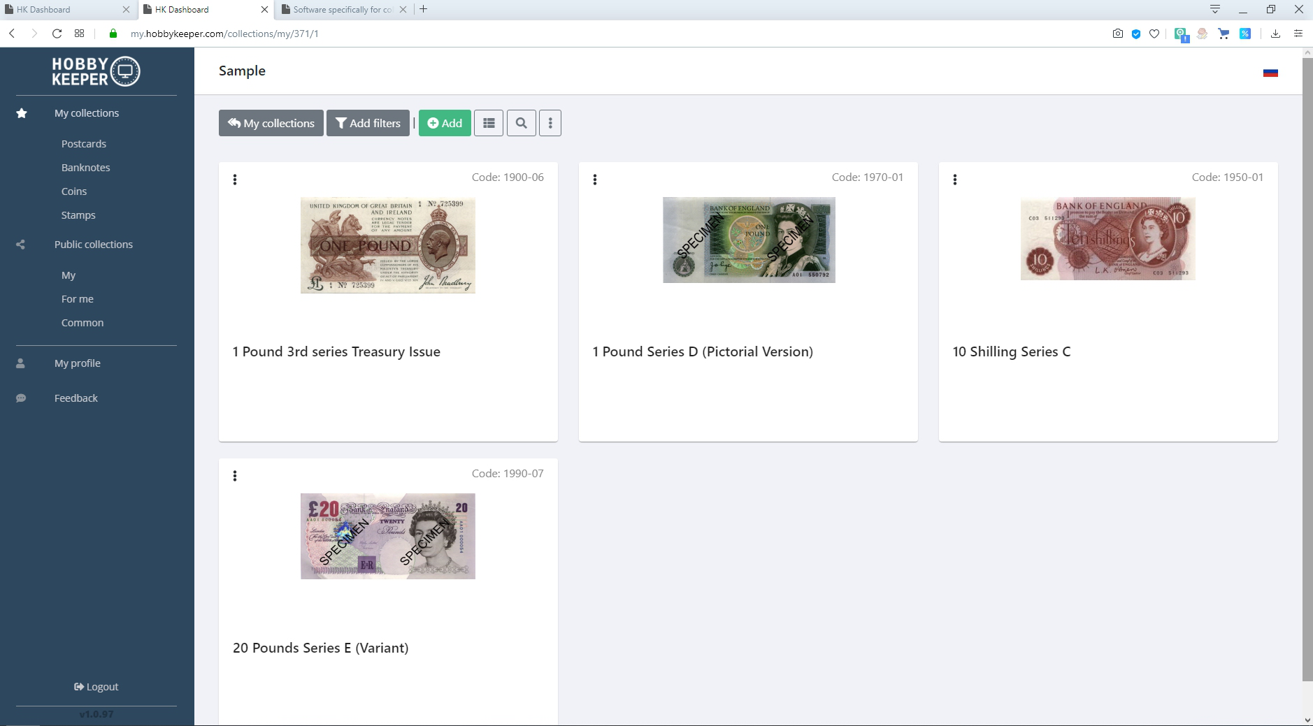 WORLD OF BANKNOTES FOR WINDOWSWINDOWS2