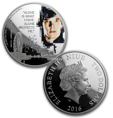 2 dollar coin with Cumberbatch on the reverse, 2016, Niue | Hobby Keeper Articles