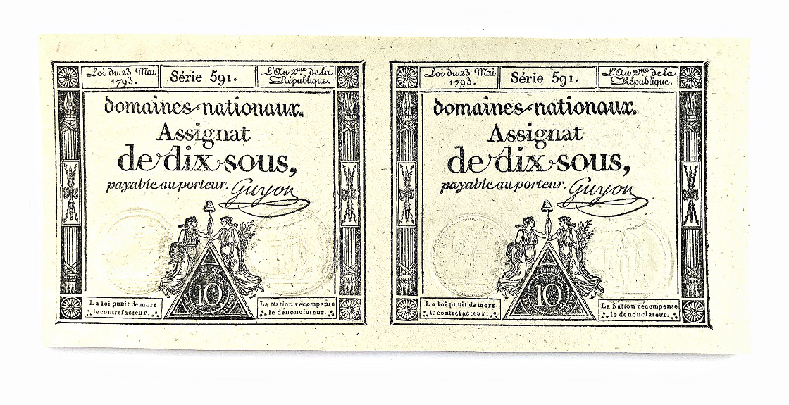 Banknote assignat of 10 sous, France, 1793 | Hobby Keeper Articles