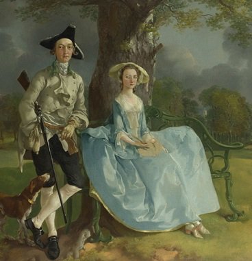 "Thomas Gainsborough, painting ""Mr. and Mrs. Andrews"", 1750 