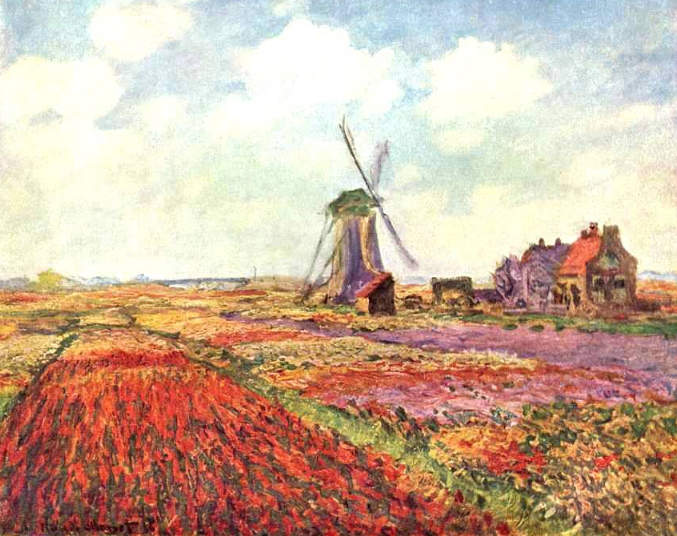 """Picture of Monet's """"Tulip Fields in Holland"""" 