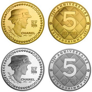 5 Euro coin with Coco Chanel, 2008, France | Hobby Keeper Articles