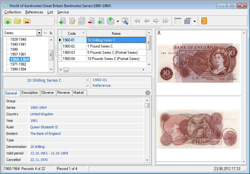 WORLD OF BANKNOTES FOR WINDOWS - Version 1.6.5WINDOWS0