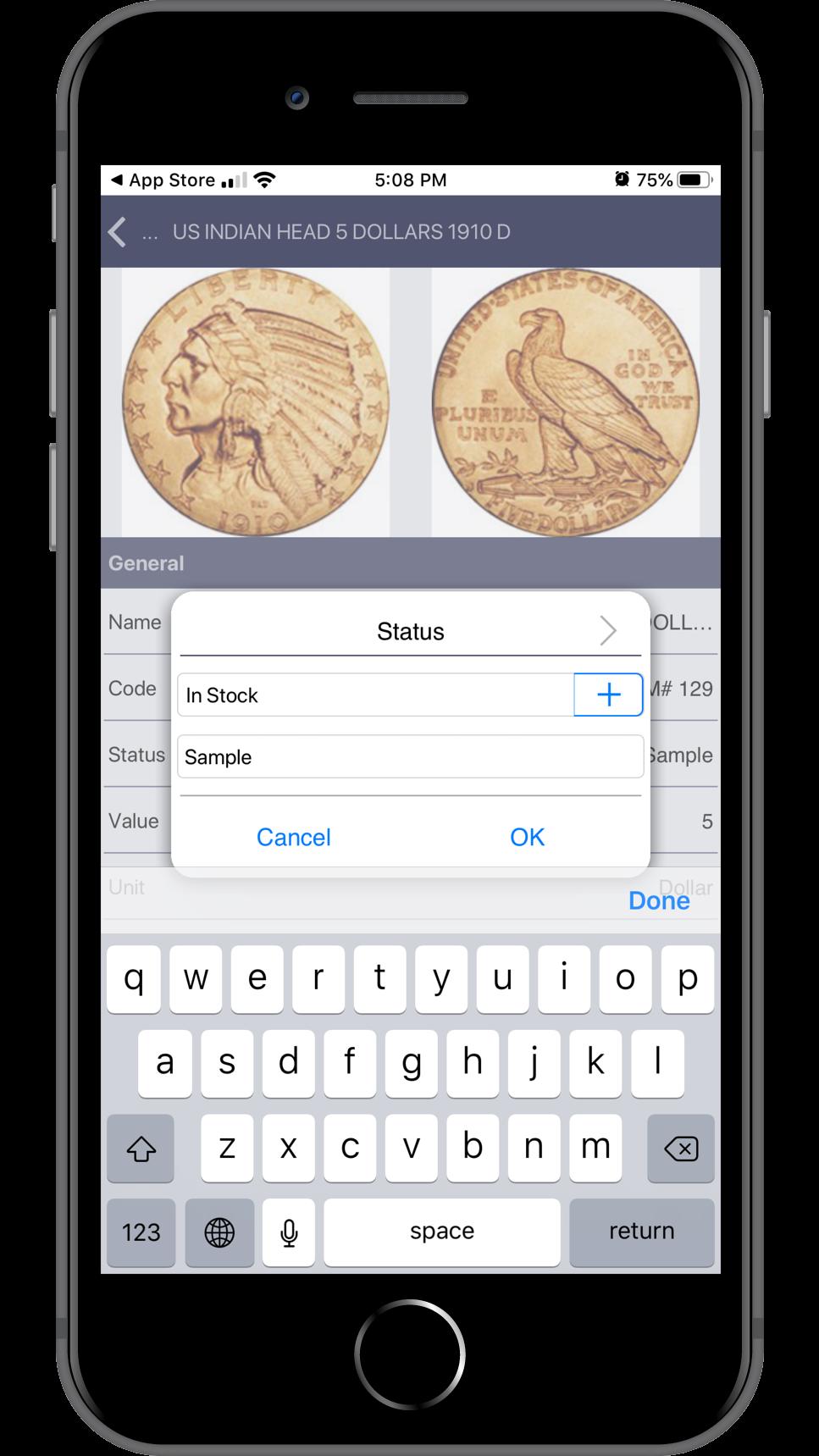 Numismatic mobile App. Redesign version.