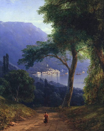 "Aivazovsky's painting ""View from Livadia"" 