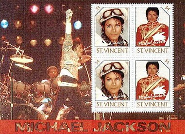 Hitching stamps with Michael Jackson,$ 4, St. Vincent | Hobby Keeper Articles