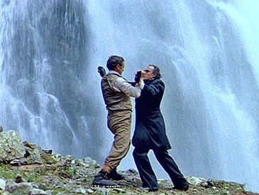 Frame of the Reichenbach waterfall scene from the movie about Sherlock Holmes | Hobby Keeper Articles