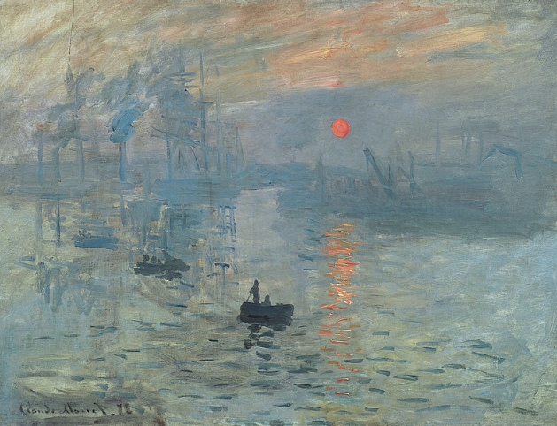 """Monet Painting """"Impression. Rising sun"""" 
