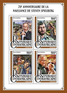 Stamps Central African Republic with the characters of the films of Spielberg | Hobby Keeper Articles