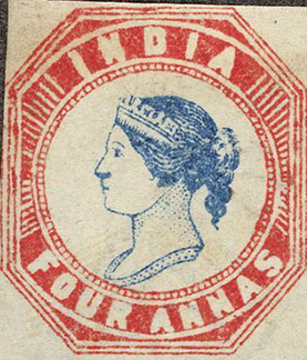 4 Anne Postage stamp with Queen Victoria, India   Hobby Keeper Articles