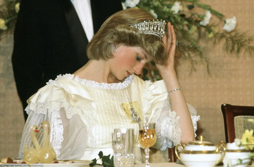 Diana at a Banquet in New Zealand during a tour, 1983   Hobby Keeper Articles