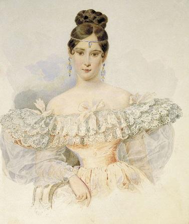 Portrait of Natalia Goncharova. Brullov   Hobby Keeper Articles