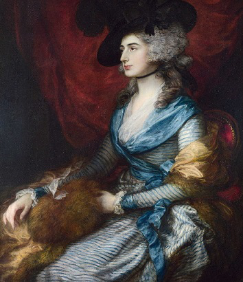 """Portrait of the actress Sarah Siddons"", Thomas Gainsborough, 1785 
