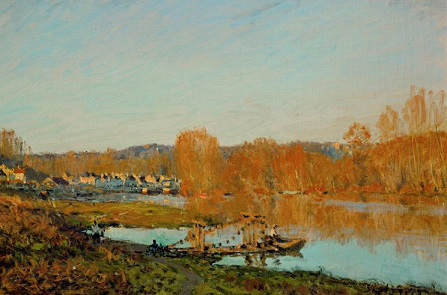"""Picture Alfred Sisley """"banks of the Seine near Bougival""""   Hobby Keeper Articles"""