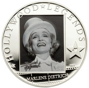 $ 5 coin, with Marlene Dietrich on the reverse, 2012, cook Islands | Hobby Keeper Articles