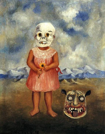 """Frida Kahlo """" the Girl with the death mask. (She plays alone)"""", 1938 / Hobby Keeper Articles"""