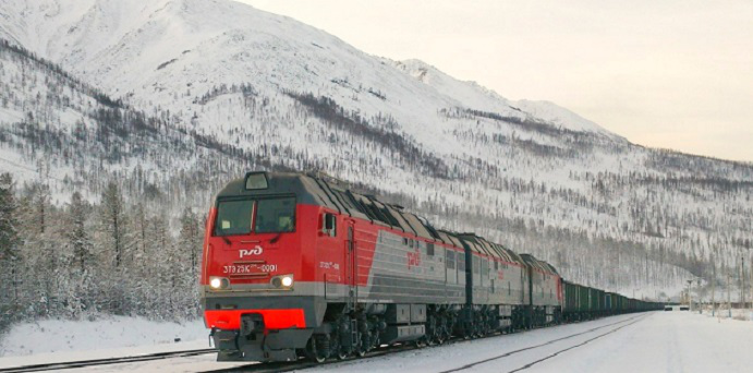 Russian Railways train on a white background | Hobby Keeper Articles