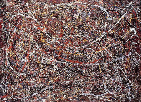 "Pollock's painting ""No. 5"", 1948 