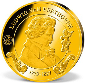The gold round with the image of Beethoven | Hobby Keeper Articles