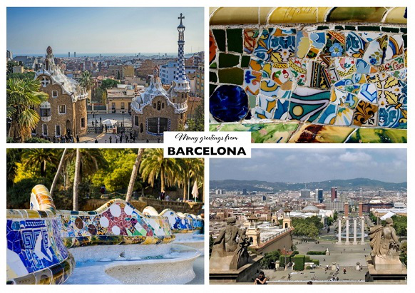 Barcelona Attractions Postcard| Hobby Keeper Articles