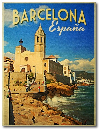 """Post Card """"Of Barcelona. Spain."""" 