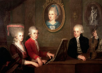 A picture of the whole Mozart family | Hobby Keeper Articles