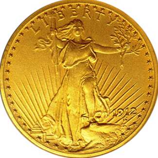 Gold coin 20 dollars obverse, 1912, United States | Hobby Keeper Articles