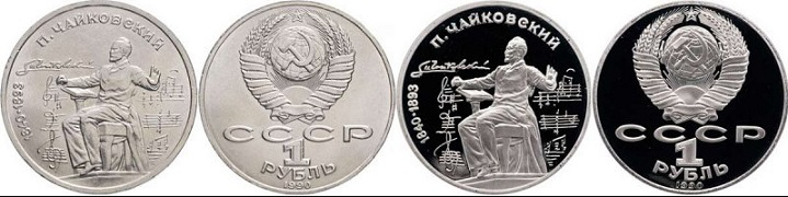 Coin 1 ruble to the 150th anniversary of Tchaikovsky | Hobby Keeper Articles