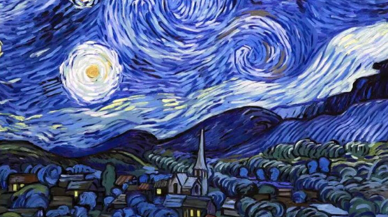 "The painting ""the Starry night"" 