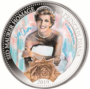 $ 5 silver coin with Diana on the reverse, 2019, Samoa   Hobby Keeper Articles