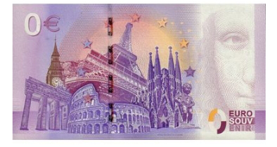 """0 Euro banknote """"Champs Elysees"""" reverse, 2017, France   Hobby Keeper Articles"""