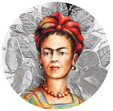 1000 franc coin on the reverse of Frida Kahlo, Cameroon | Hobby Keeper Articles