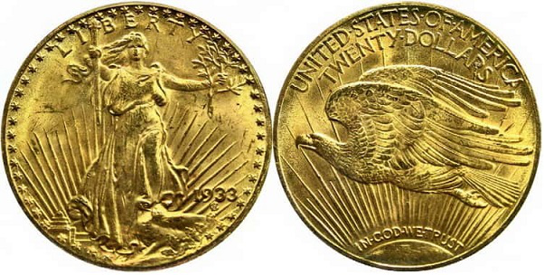 Gold coin 20 dollars, 1933, USA | Hobby Keeper Articles