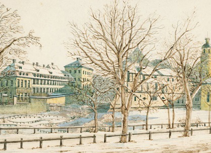 A picture of 'View from the garden of Jacob Reichel in winter Leipzig', 1836, Mendelssohn | Hobby Keeper Articles