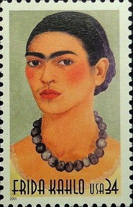 "Postage stamp ""Frida Kahlo"", 2001, USA | Hobby Keeper Articles"