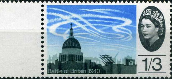 """Postage stamp """"architecture"""", 1965, UK   Hobby Keeper Articles"""