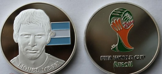 """Coin """"L. Messi"""", Brazil 