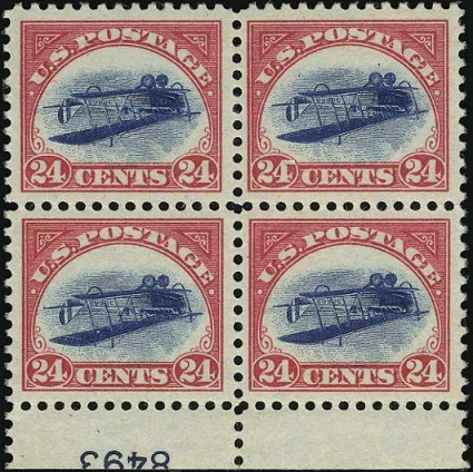 Plate block of the inverted Jenny | Hobby Keeper Articles