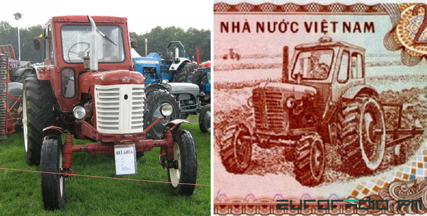 Belarusian MTZ-50 and 200 VND banknote | Hobby Keeper Articles