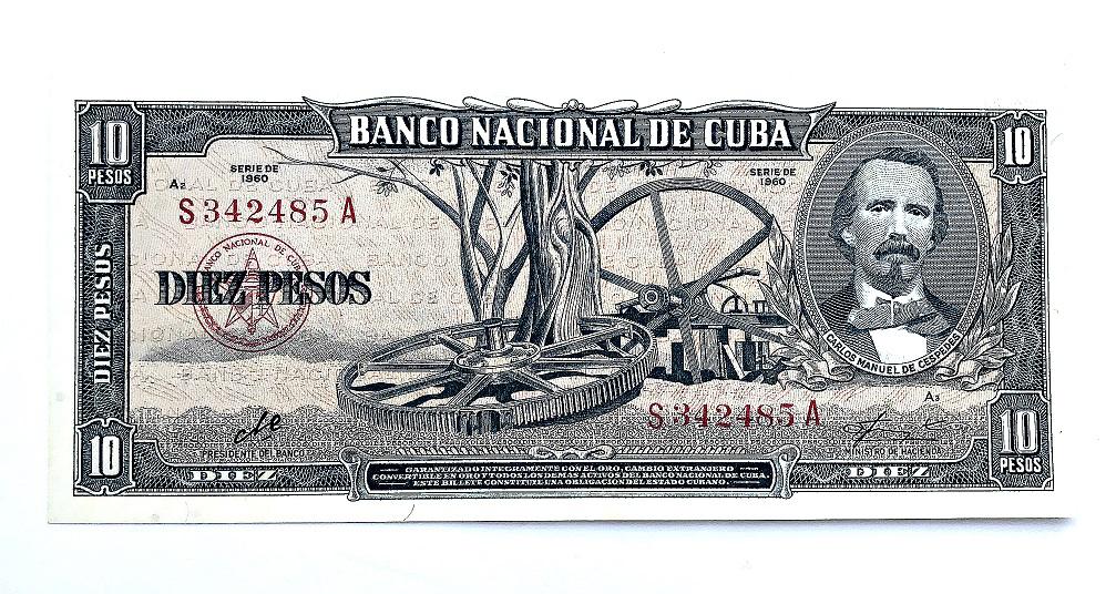 Cuba 10 pesos, series of 1960 | Hobby Keeper Articles