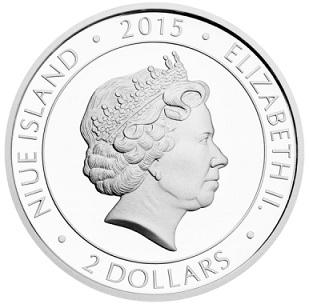 2 dollar coin, 2015, Niue | Hobby Keeper Articles