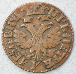 1 kopeck copper coin reverse, 1705 | Hobby Keeper Articles